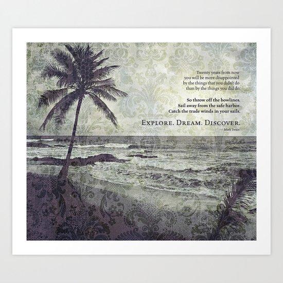 island paradise Art Print