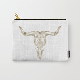 Bull Skull Gold Carry-All Pouch