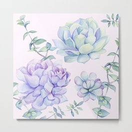 Wonderful Succulents Metal Print