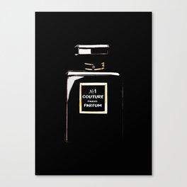 Black Parfum on black Canvas Print