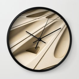 Architectural abstract of the Broad (rhymes with road), Los Angeles, California Wall Clock