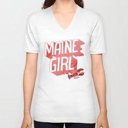 Maine Girl Unisex V-Neck