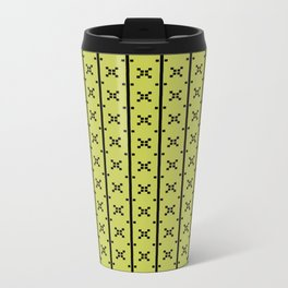 Squares and Stripes in Citrine #pattern #squares #stripes Metal Travel Mug