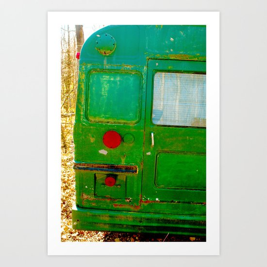 The Bus back end mystery..... Art Print