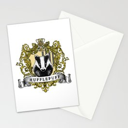 Hufflepuff Color Crest Stationery Cards