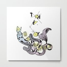 Non Binary Cat-Fish Metal Print