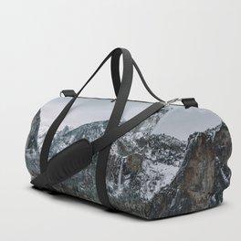 Snow at Yosemite's Tunnel View Duffle Bag