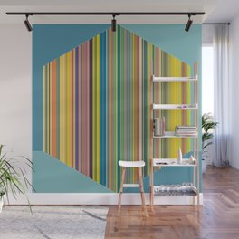 Cube of Lines Wall Mural