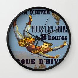 Vintage poster - Cirque D'Hiver Wall Clock