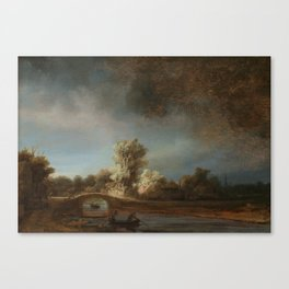 Rembrandt - The Stone Bridge Canvas Print