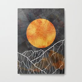 The great gold sun Metal Print
