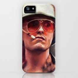 Hunter S. Thompson Smokes A Cigarette - Fear And Loathing In Las Vegas iPhone Case