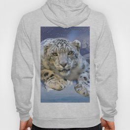 Snow Leopard and Moon Hoody