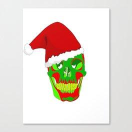 The Death Of Christmas - Santa's Skull  Canvas Print