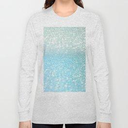 Mermaid Sea Foam Ocean Ombre Glitter Long Sleeve T-shirt