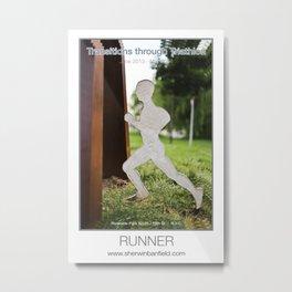 RUNNER of Transitions through Triathlon Metal Print