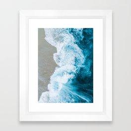 Ocean Overhead Framed Art Print