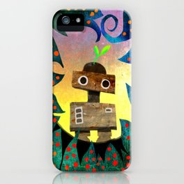 Robot in the Forest iPhone Case