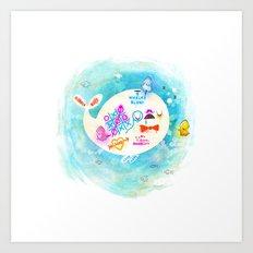 Squidfitti Art Print