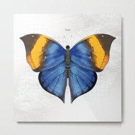 hope: dead leaf butterfly Metal Print