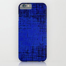 Woven Inkwell Blue and Royal Blue Abstraction iPhone Case