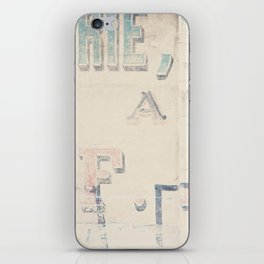 the writing on the wall ... iPhone Skin