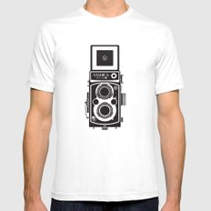 Yashica Mat 124G Camera SMALL Mens Fitted Tee White