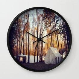 Reenactment Tents Wall Clock