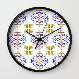 Fall in Lisbon Wall Clock