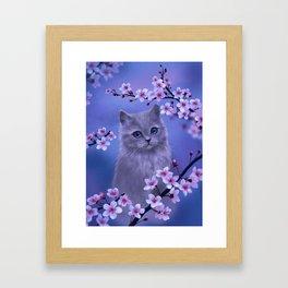 Spring kitten Framed Art Print