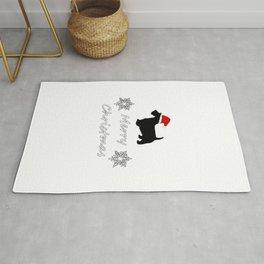 """Scottish Terrier """"Merry Christmas"""" Rug"""