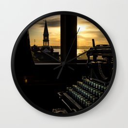 The Sunrise, Steeple & Typewriter Wall Clock