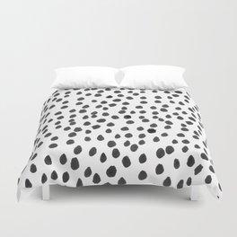 Hand painted monochrome dot pattern Duvet Cover
