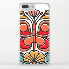 Butterfly tile Clear iPhone Case
