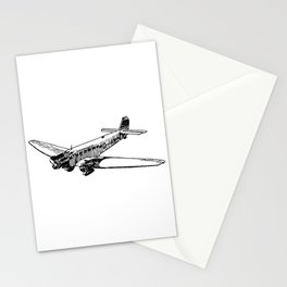 Old Airplane Detailed Illustration Stationery Cards