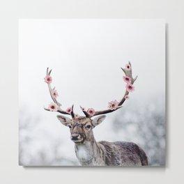Blossom Deer Metal Print
