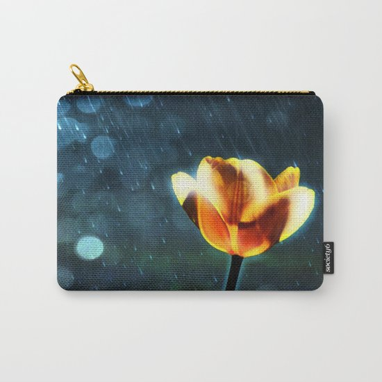 Yellow Tulip in the Rain Carry-All Pouch