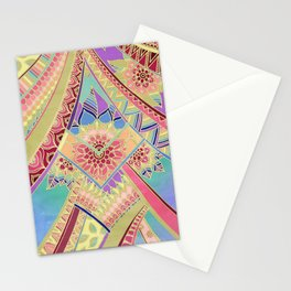 Rise and Shine - Rainbow Hued, Multi-Colored Doodle Stationery Cards