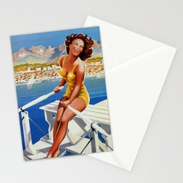 Vintage Marina di Massa Italian travel advertising Stationery Cards