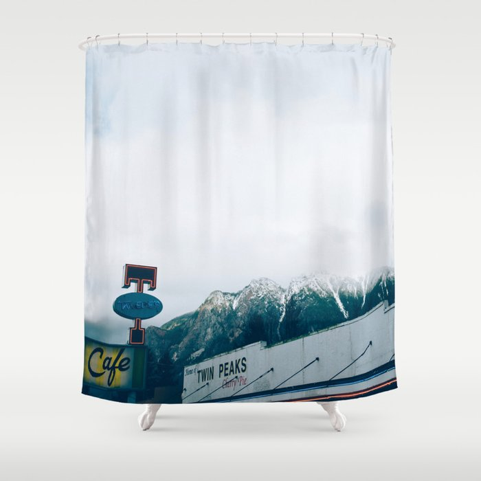 Twin Peaks Cafe Shower Curtain