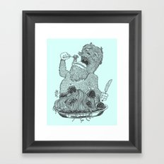 Yeti Spaghetti Framed Art Print