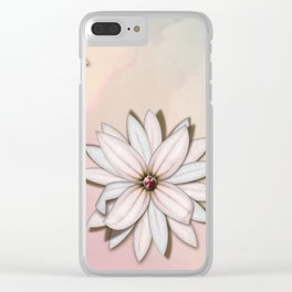 lily-white Clear iPhone Case