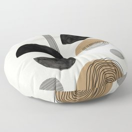 Paper Collage Art Floor Pillow