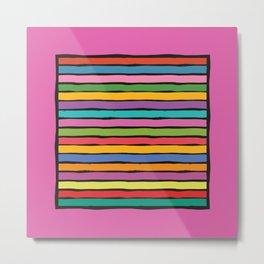 dp203-10B Colorful Stripes Metal Print