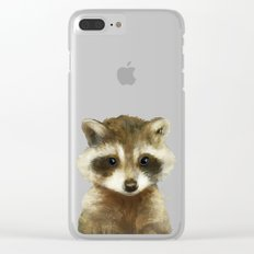 Little Raccoon Clear iPhone Case
