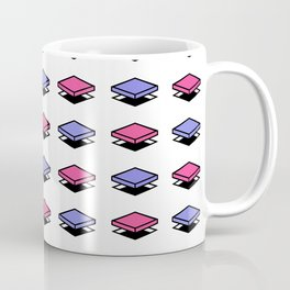 Float Pieces Purple and Pink Coffee Mug