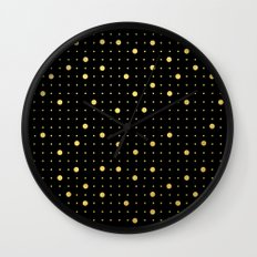 Pin Points Gold Wall Clock