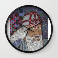 viking Wall Clocks featuring Viking by Shana Conroy aka Wisccheeto