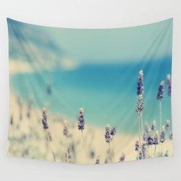 beach - lavender blues Wall Tapestry