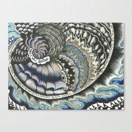 Golden Spiral (no fear) Canvas Print
